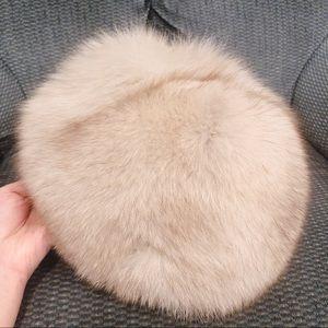 Vintage Fox fur winter hat